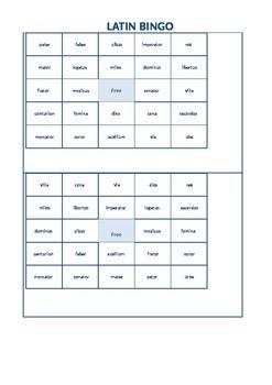 Latin Vocabulary BINGO!