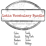 Latin Vocabulary Bundle - Flashcards & Memory Games