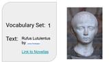 Latin Vocabulary Bundle (Set 1 of 3) corresponding to Rufus Lutulentus Novella