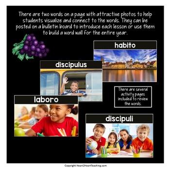 Latin Vocabulary Posters & Activities GROWING BUNDLE {Prima Latina Lessons 1-10}