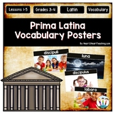 Latin Vocabulary Posters & Activities GROWING BUNDLE {Prima Latina Lessons 1-10}