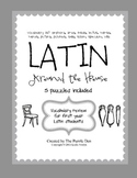 Latin Vocabulary Puzzles - Around the House Words for Firs