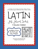 Latin Vocabulary Puzzles - Review of School Words for Firs