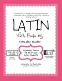 Latin Vocabulary Puzzles - Verb Pack 5 for First Year Lati