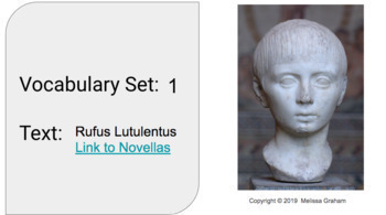 Latin Vocabulary Set 1 for Rufus Lutulentus (Terms 1 -16)  Google Slides