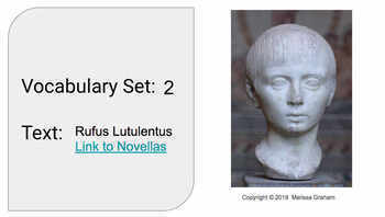 Latin Vocabulary Slides (Set 2 of 3)  for Rufus Lutulentus Novella