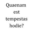 Latin Weather / Tempestas