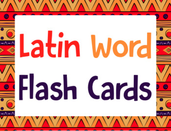 Latin Word Flash Cards