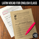 Latin Words & Phrases: 2-Day Vocabulary Lesson & Quiz for English Classes