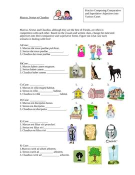 Latin adjectives-comparative and superlative