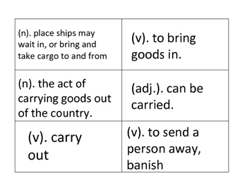 Latin and Greek Root Word Cards and Definitions (A Vocabulary Activity)