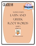 Latin and Greek Root Words Weekly Practice Unit 1
