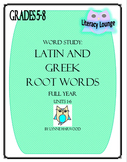 Latin and Greek Root Words Weekly for the Whole Year!