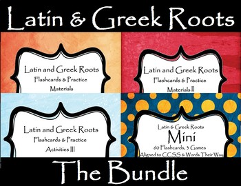 Latin and Greek Roots Bundle