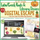 Latin and Greek Roots Digital Escape Room, Literary Devices, Digital Escape Ⓡ