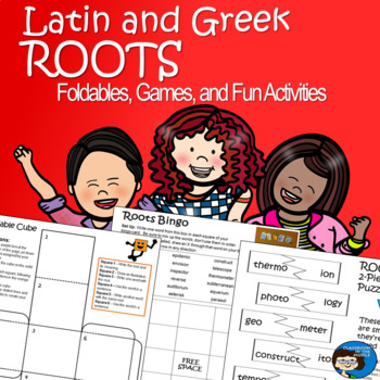 Latin and Greek Roots - Foldables, Games, and Fun Activities