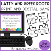 Latin and Greek Roots Game Print and Digital Distance Learning