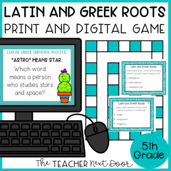 Latin and Greek Roots Game | Latin and Greek Roots Center