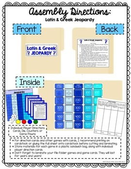 Latin and Greek Roots Jeopardy