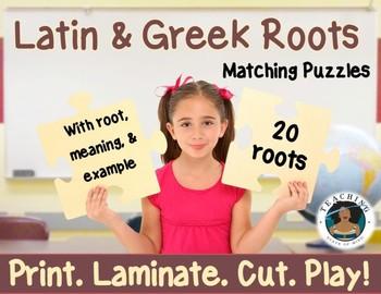 Latin and Greek Roots Matching Puzzles: Print. Laminate. Cut.