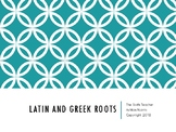 Latin and Greek Roots Task Cards with Answer Key
