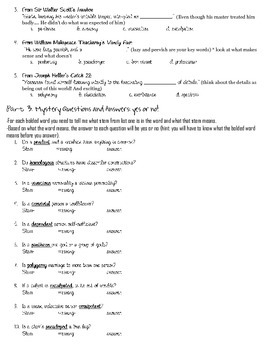 Latin and Greek Stems-- List 3 Worksheet