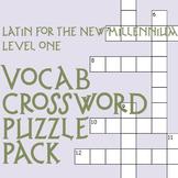 Latin for the New Millennium Vocab Crossword Puzzle Pack