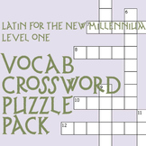 Latin for the New Millennium Vocab Crossword Puzzle Pack