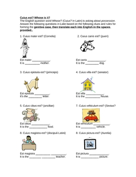 Latin genitive case practice
