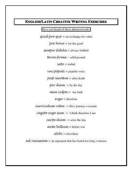 English/Latin Creative Writing Exercise
