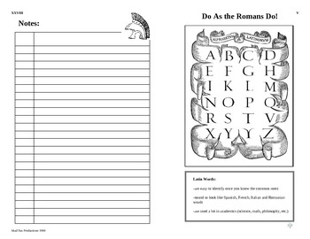 Latin/Greek Reference Booklet