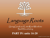 Latin/Greek Root Word Vocabulary IV: Powerpoints, Flashcards, Worksheets, Exams