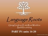 Latin/Greek Root Word Vocabulary IV: Powerpoints, Flashcar