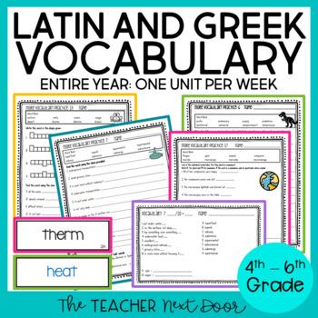 Latin/Greek Vocabulary Through the Year 4th - 6th Grade