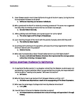 Latino Americans: Episode 5 Prejudice & Pride Video Guide: Work Rights, Chicano