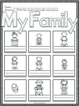 Latino Family Vocabulary Cards