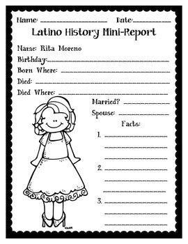 Latino History Mini-Reports