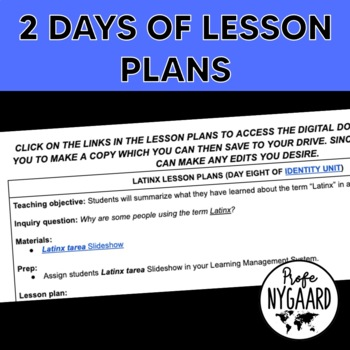 Latinx Bilingual Lesson
