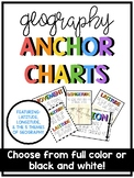Latitude & Longitude/ 5 Themes of Geography Anchor Charts
