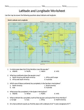 Latitude/Longitude (Absolute Location) Worksheet by Bruce Collection