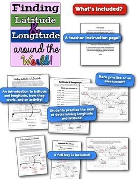 Latitude & Longitude Around the World! Finding Latitude & Longitude! Engaging!