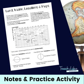 Latitude & Longitude Basic Skills Introduction/Review