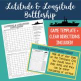 Latitude and Longitude Battleship-No Prep