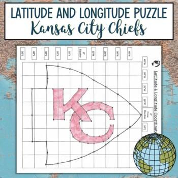Latitude And Longitude Practice PuzzleKansas City Chiefs By Katie - Latitude and longitude of kansas