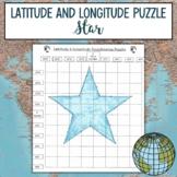 Latitude and Longitude Practice Puzzle Star