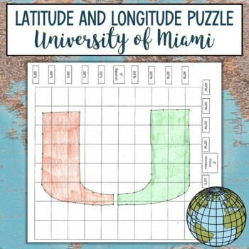 Latitude and Longitude Practice Puzzle-University of Miami