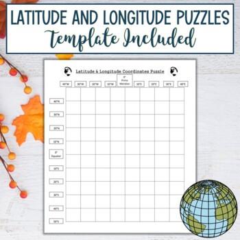 Latitude and Longitude Practice Puzzle-Thanksgiving Pilgrim Hat