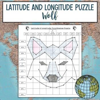 Latitude & Longitude Coordinates Puzzle-Wolf