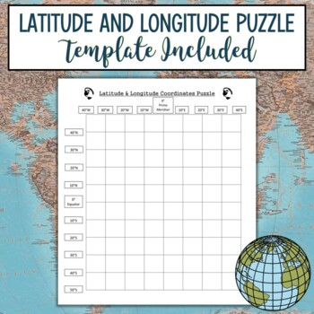 Latitude and Longitude Practice Puzzle-Wolf