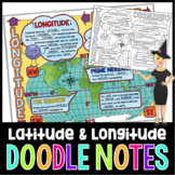 Latitude and Longitude Doodle Notes with PowerPoint and Quiz